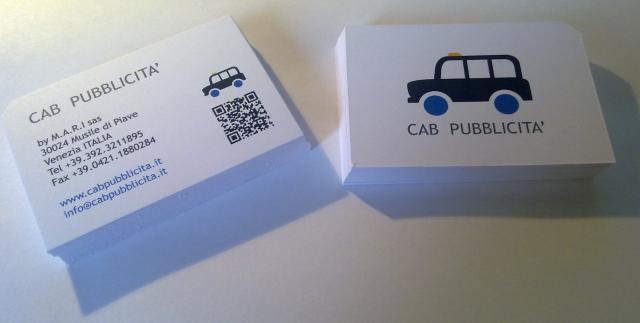 biglietti da visita cab pubblicita