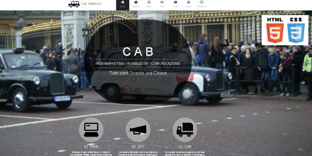 grafica sito web cab pubblicita